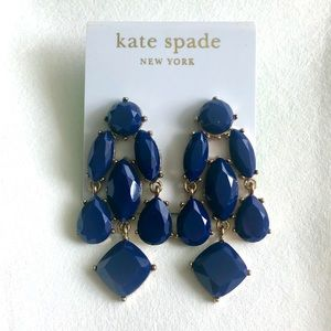 Kate Space Navy Blue Drop Earrings